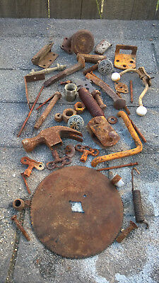 Vtg Lot Rusty Primitive Iron Metal Farm Tools Rustic Barn Wedding Industrial #7