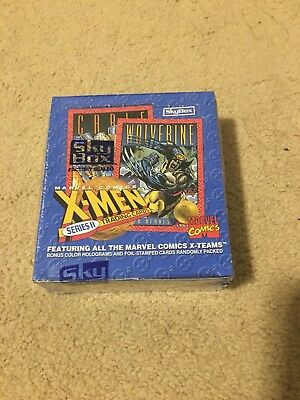 X-Men Trading Cards Series II 2 Marvel Skybox 1993 Factory Sealed Box 36 Packs!