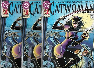 Catwoman #1 Lot Of 3 From 1993 (Nm-) Batman