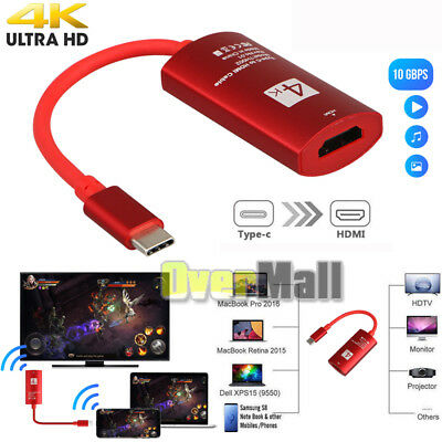 USB-C Type-C to HDMI HDTV Adapter 4K*2K UHD for Samsung Galaxy S9 S8+ Note 9 USA