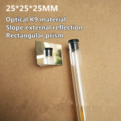 1pc 25mm K9 Optical Glass 90 Degree Angle Slope Reflecting Triangular Prism