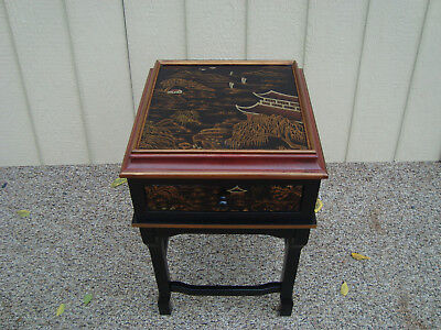 59278 Oriental nightstand End table Stand
