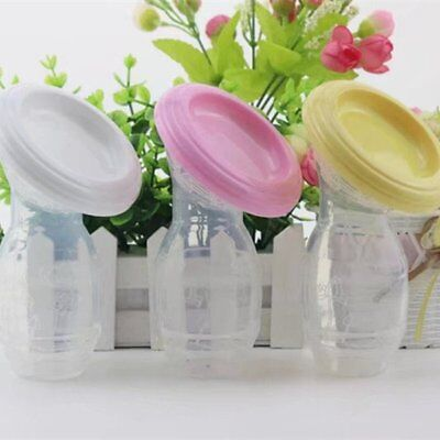 Mom Silicone Breast Pump Baby Breastfeeding Saver Collector Suction Bottle  IU