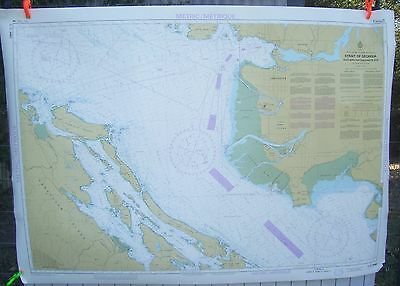 Canada BC Nautical Map Chart #3463 Strait of Georgia Southern Portion May 1986