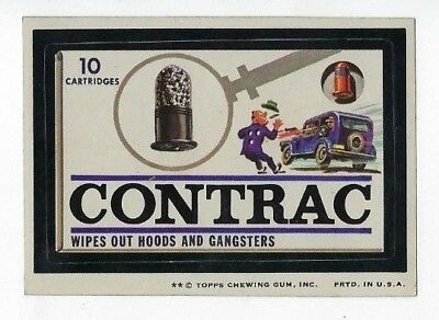 1974 Topps Wacky Packages 7th Series 7 CONTRAC CARTRIDGES nm-