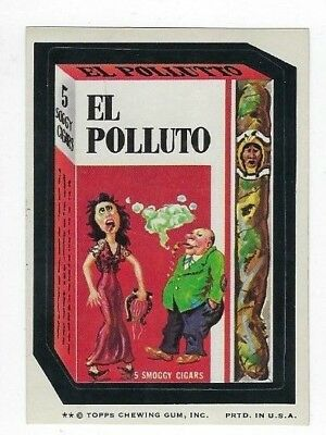 1974 Topps Wacky Packages 7th Series 7 EL POLLUTO CIGARS nm-