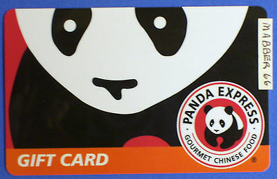 New Unused Old Version Panda Express Collectible Bear Gift Card No Cash Value