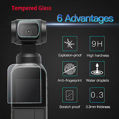 High Definition Tempered Glass Screen Protector + Lens Film For DJI OSMO Pocket