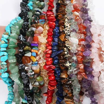 5-8mm 33 Styles Natural Free-form Stone Chips Beads Strand Gemstones Jewelry