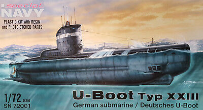 SPECIAL NAVY SN72001 WWII German U-Boot Type XXIII in 1:72