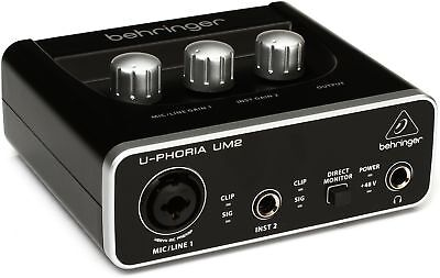 Behringer U-Phoria UM2 (2X2 USB Audio interface)