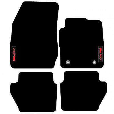 Ford Fiesta MK7 2009 to 2012 Tailored Carpet Car Floor Mats with logo (2 Clips)