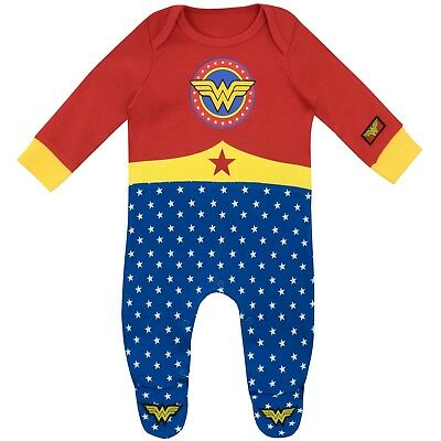 Wonder Woman Sleepsuit | Baby Wonder Woman Pyjamas | Wonder Woman Footie PJs