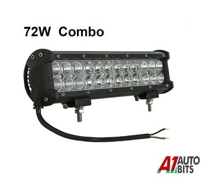 12 Inch 72w Led Work Combo Light Bar Offroad Truck Driving Suv Jeep 4WD 12/24v