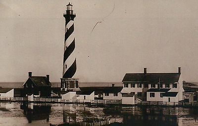 Cape Hatteras Lighthouse, Buxton, Outer Banks North Carolina NC, 1893 - Postcard