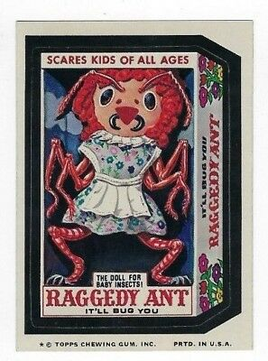 1974 Topps Wacky Packages 9th Series 9 RAGGEDY ANT DOLL nm-