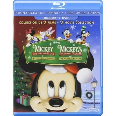 Mickey's Once & Twice Upon A Christmas [Blu-ray Box Set Disney 2-Movie Set] NEW