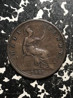 1881 Great Britain 1/2 Half Penny Lot#1201