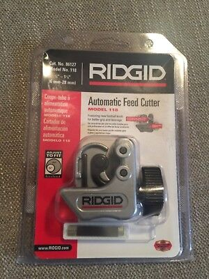 RIDGID 86127 Model 118 Automatic Feed Tubing Cutter, 1/4-inch to 1-1/8-inch Tube