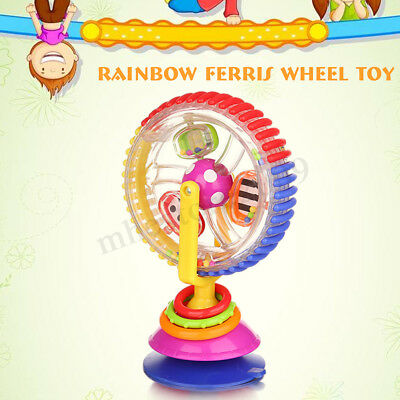 Baby Kid Creative Observe Ferris Wheel Rattle Suction Educational High Chair Toy