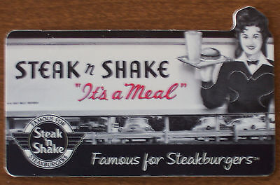 STEAK 'N SHAKE RETRO OLD Billboard SIGN COLLECTIBLE GIFT CARD No $ Value