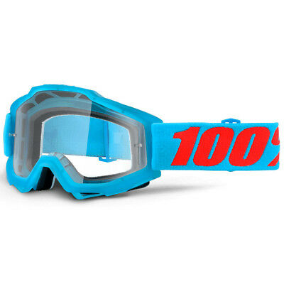 100% - Accuri Acidulous Cyan Clear Lens Adult Goggles