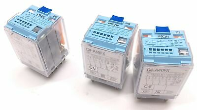 Lot of 3 Cromat Releco C4-A40FX Ice Cube Relay, 4 Contacts, 12 Pin, DC 1.4 W