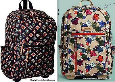 99b391c7b1c7 Vera Bradley Lighten Up Rolling Backpack Choose Pattern NWT MRSP  148