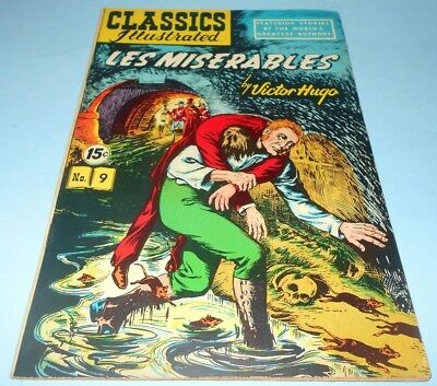 1951 Classics Illustrated #9 Les Miserables by Victor Hugo HRN #87