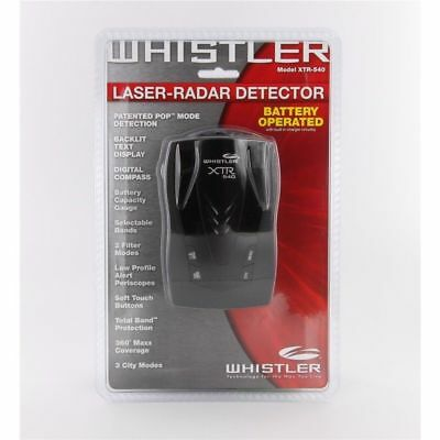 Whistler XTR-540 XTR540 / Cordless Laser Radar Detector AA Batteries