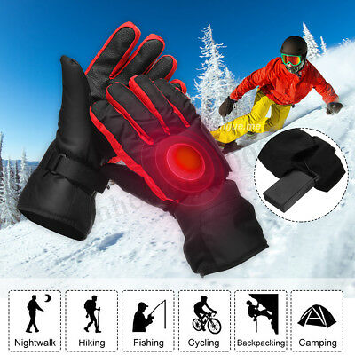 Electric Heated Gloves Hands Warm Winter Warmer Rechargeable Battery Waterproof