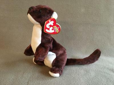 a78f7291b86 NEW Ty Beanie Baby RUNNER the Ferret Weasel MWMT Retired Plush Animal Toy  MINT
