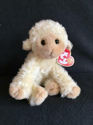c8245c0e7c2 NEW Ty Beanie Baby Meekins the Lamb MINT w  MINT Tags Retired Easter Sheep  Toy