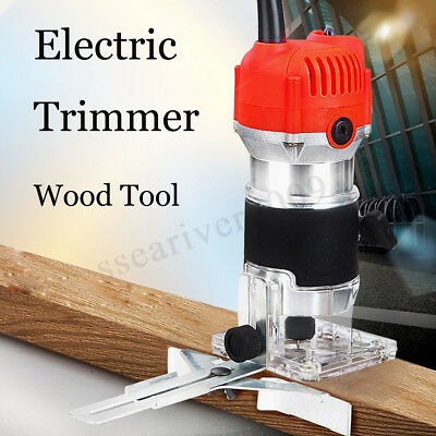 """800W 0.25"""" 30000RPM Electric Hand Trimmer Wood Laminate Palm Router Joiners"""