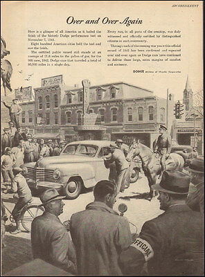 1940's Vintage ad for Dodge`Chrysler Corp`Art retro town picture  080517