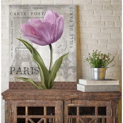 Courtside Market Paris Pink I Gallery Wrapped Canvas Wall Art - 16x20
