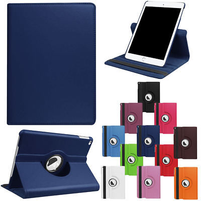 For iPad 9.7 2018 6th Gen Shockproof 360 Rotating Leather Flip Smart Stand Case