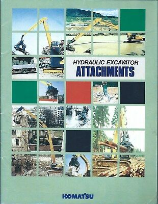 Equipment Brochure - Komatsu - Hydraulic Excavator Attachments - c1990's (E4949)