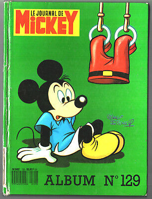 ALBUM LE JOURNAL DE MICKEY n°129 ¤ avec n°1848 à 1857 ¤ 1988 DISNEY + CALENDRIER