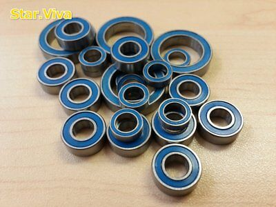 (Blue)Double Metal Rubber Sealed Ball Bearing For Tamiya CW-01/CW01 (10pcs) Sv