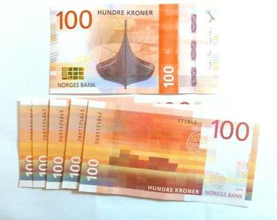 NORWAY 100 Kronor Banknote 2018 Series 8 Uncirculated mint condition