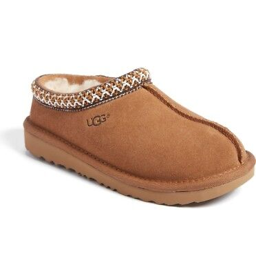 2aaf4dd0bb8 KIDS UGG AUSTRALIA Girls House Shoes Tasman II Embroidered Slippers  Chestnut 1