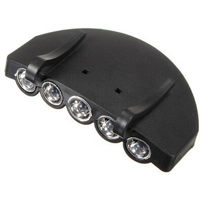 5 LED Rechargeable Head Light Cap Hat Clip Headlamp Camping Hiking Fishing Lamp