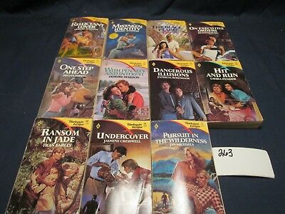 LOT OF 11 Harlequin Intrigue Romance Books paperback lots vintage love sexy