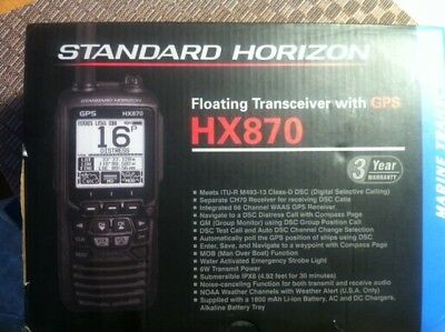standard horizon hx870 Marine Radio with GPS