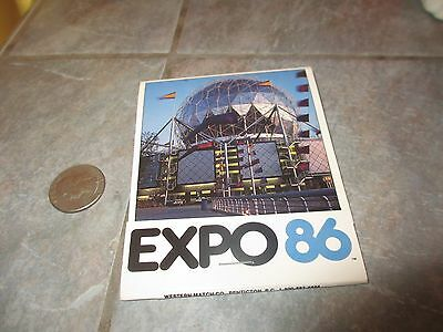 Unused 1986 WORLD EXPOSITION Vancouver Canada OVERSIZED Matchbook  FREE SHIPPING