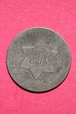 Low Grade 1852 P Seated Liberty Trime 3 Cent Silver Flat Rate Shipping OCE 027