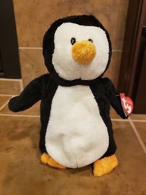 TY Beanie Babies Waddles Pluffies Collection Penguin 2010