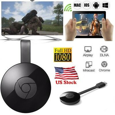 3rd Generation Chromecast Wireless Dongle 1080P Media Video Streamer for Google
