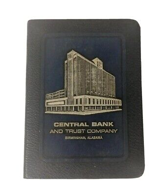 VTG BANKER UTILITY CO 1923 METAL BOOK COIN BANK Central Bank and Trust Co BHM AL